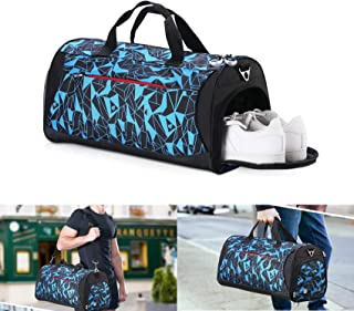 Rimposky Gym Bag with Shoes Compartment & Wet Pocket for Men and Women,Sports Bag for Swimming,Dance,Lightweight Travel Du...