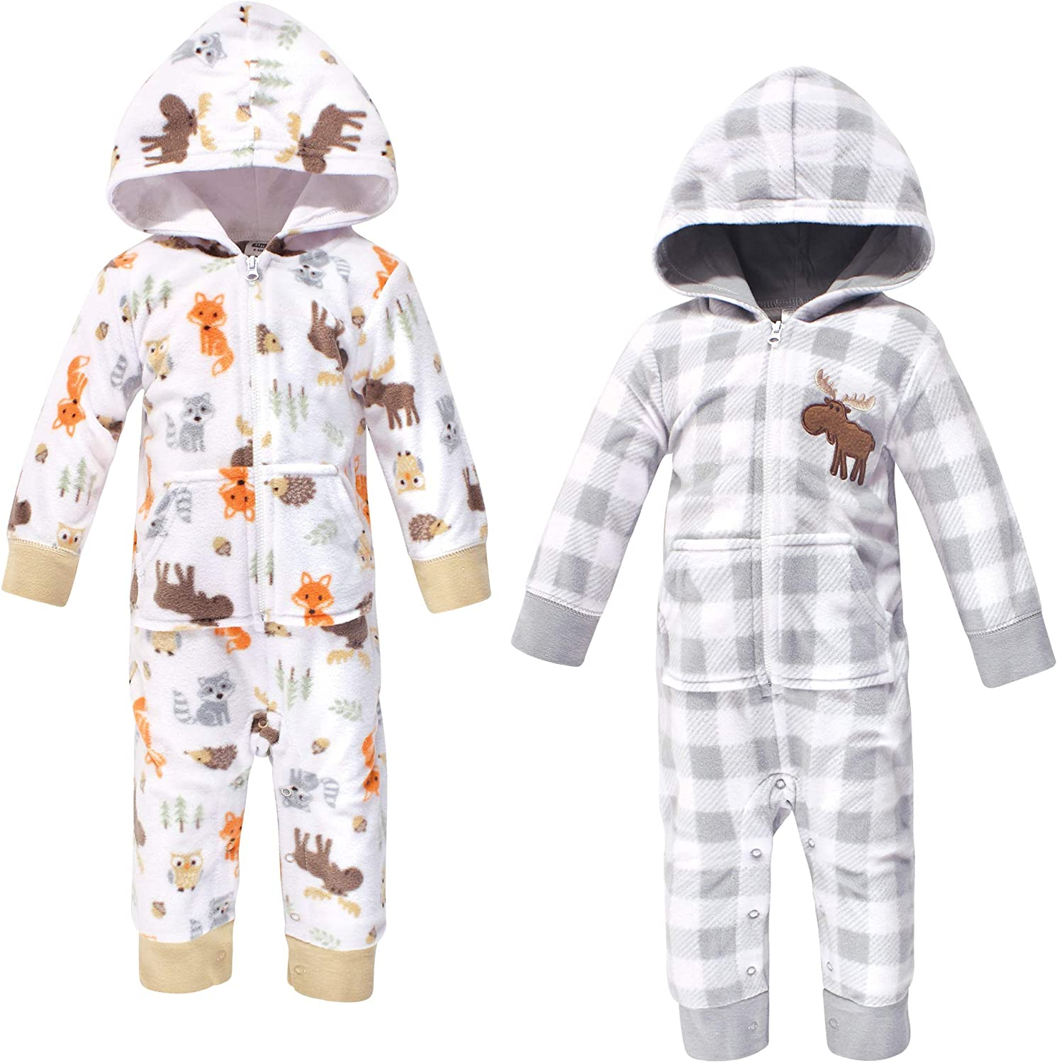 Hudson Baby Max 56% OFF Unisex Fleece Jumpsuits Playsui and 2021 spring summer new Coveralls