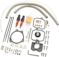 Pedro A Bailey Rebuild Kit for Harley-Davidson Carburetor with Idle Screw Spark Plug Fuel Filter Low Range Jet,Keihin CV Replace 27006-88
