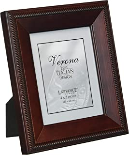 Lawrence Frames Tu by Edo, Walnut Wood 4 by 5 Picture Frame