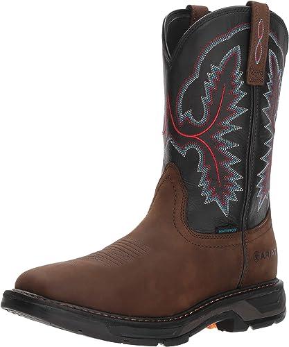 Ariat - Chaussures de Travail Western Workhog XT H2O Hommes, Hommes, 44 W EU, Oily Distressed marron noir  nouvelle marque
