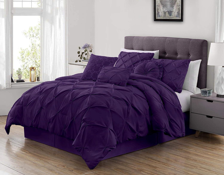 Sydney 7-Piece Pinch Pleat Pintuck Comforter Max 75% OFF Ranking TOP8 King Set Bedding