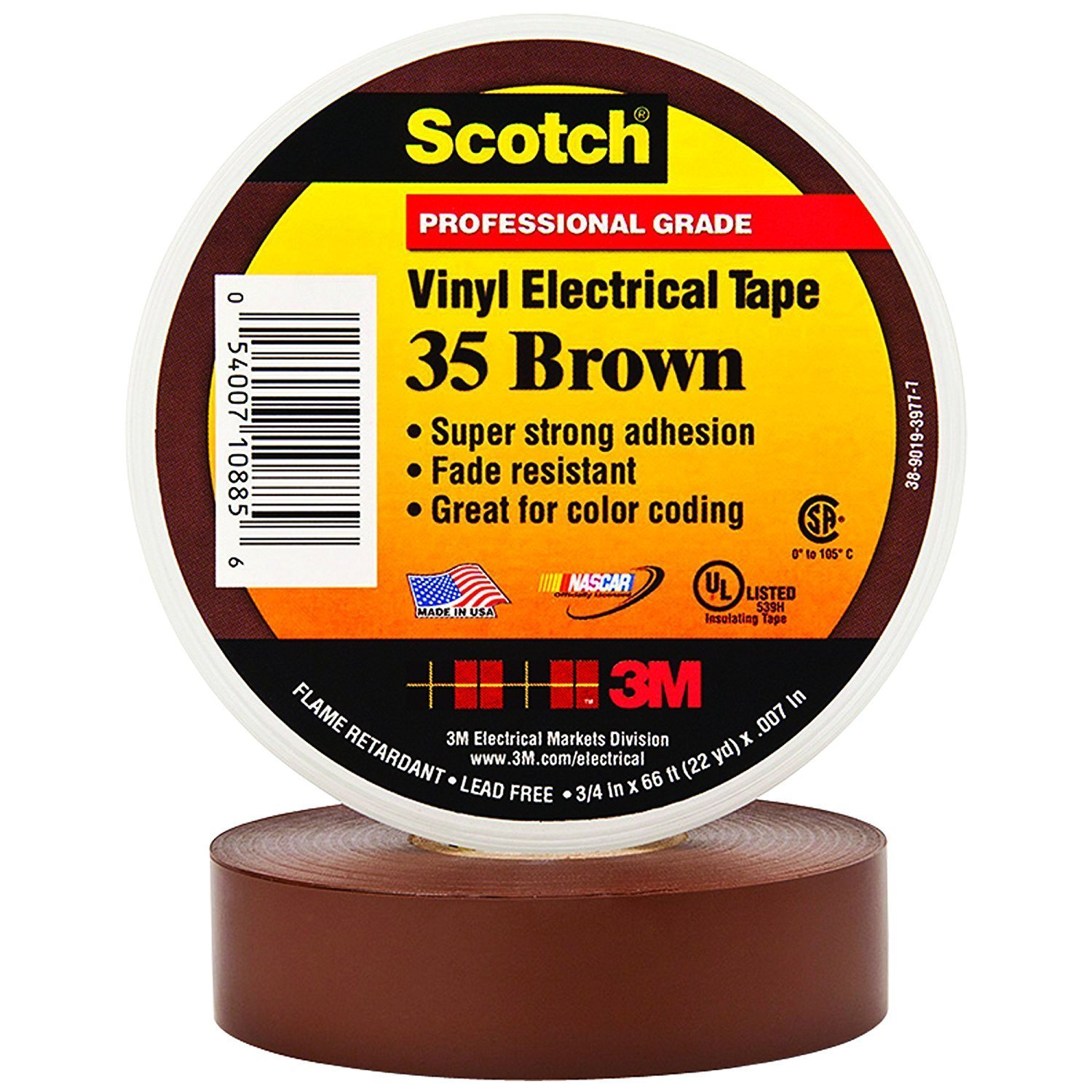 3M Latest item Scotch 35 Color Super sale Coding Electrical Tape 12 Degree 105 0 C to