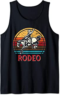 Rodeo Shirt Yeehaw Cowboy Western Country Texas Horse Retro Tank Top
