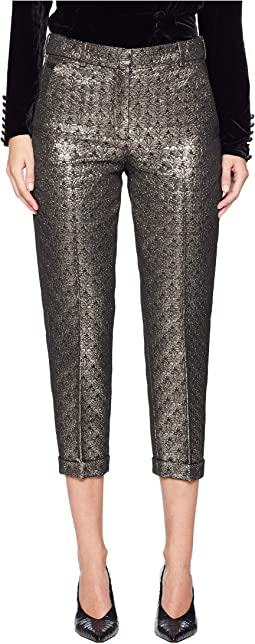 Jacquard-Weave Trousers