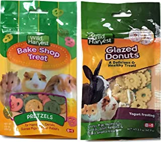 Wild Harvest 2-Variety Flavor Packs, 2.2 oz Glazed Donuts with Yogurt Frosting and 2.0 oz Pretzels Small Animal Treats