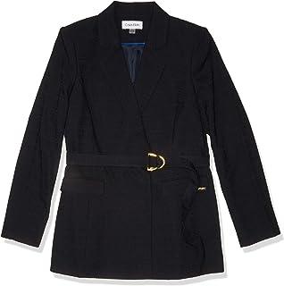 جاكيت Calvin Klein نسائي جديد بحزام جاكيت بدلة عمل