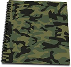 3dRose db_157596_2 Dark Green Camo Print Hunting Hunter Or Army Soldier Uniform Style Camouflage Woodland Pattern Memory Book, 12 by 12-Inch