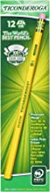Ticonderoga Pencils, Wood-Cased Graphite #2 HB Soft, Yellow, 12-Pack (13882)