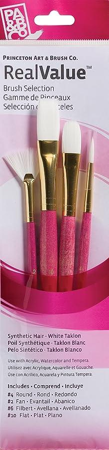 Princeton Artist Brush, Set 9182 4-Pc Gold Taklon