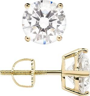 14 karat gold screw back earrings