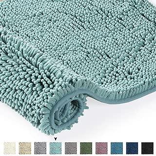 Chenille Floor Mat Soft Microfiber Shag Bath Rug, Extra Absorbent and Comfortable, Anti-Slip,Machine-Washable Area Rugs Indoor Mats Bathroom Mat, 32