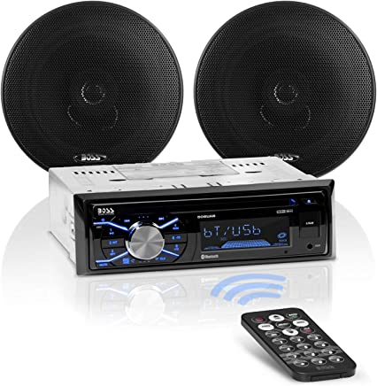 BOSS Audio 656BCK Car Stereo Package - Single Din, Bluetooth, CD/MP3/