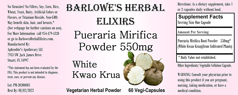 Side krua effects kwao white Pueraria Mirifica: