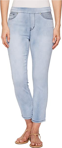 "Tribal Pull-On 25"" Dream Jean Capris in Sky"