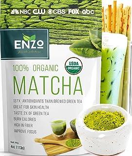 Matcha Green Tea Powder 4oz - Organic Vegan Milky Taste USDA Certified - 137x Antioxidants Over Brewed Green Tea- Great fo...