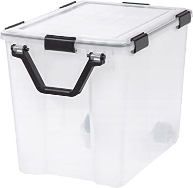 IRIS USA, Inc. UCB-LT IRIS 103 Quart WEATHERTIGHT Storage Box, Clear