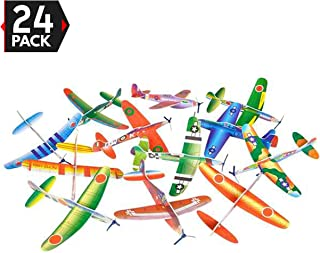 Big Mo's Toys 24 Pack 8 Inch Glider Planes - Birthday Party Favor Plane, Great Prize, Handout Glider, Flying Models, Two Dozen