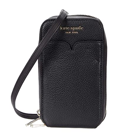 Kate Spade New York Zeezee North/South Phone Crossbody for iPhone(r) (Black) Cell Phone Case