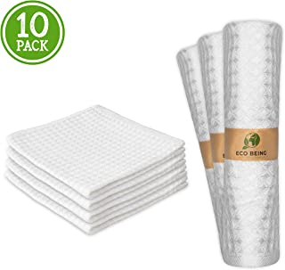 Reusable Bamboo Towels/Washable Unpaper Towels. Highly Absorbent, Strong, Eco Friendly, Natural Paper Alternative. Bamboo Cloths are Perfect for Washcloths, Cleaning Wipes, Napkins & Gifts!
