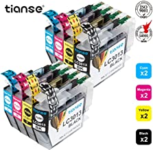 TIANSE Compatible Ink Cartridge Replacement for Brother LC3013 LC-3013XL LC3013XL to use with Brother MFC-J491DW MFC-J497DW MFC-J690DW MFC-J895DW Printers(8-Pack: 2BK 2C 2M 2Y)