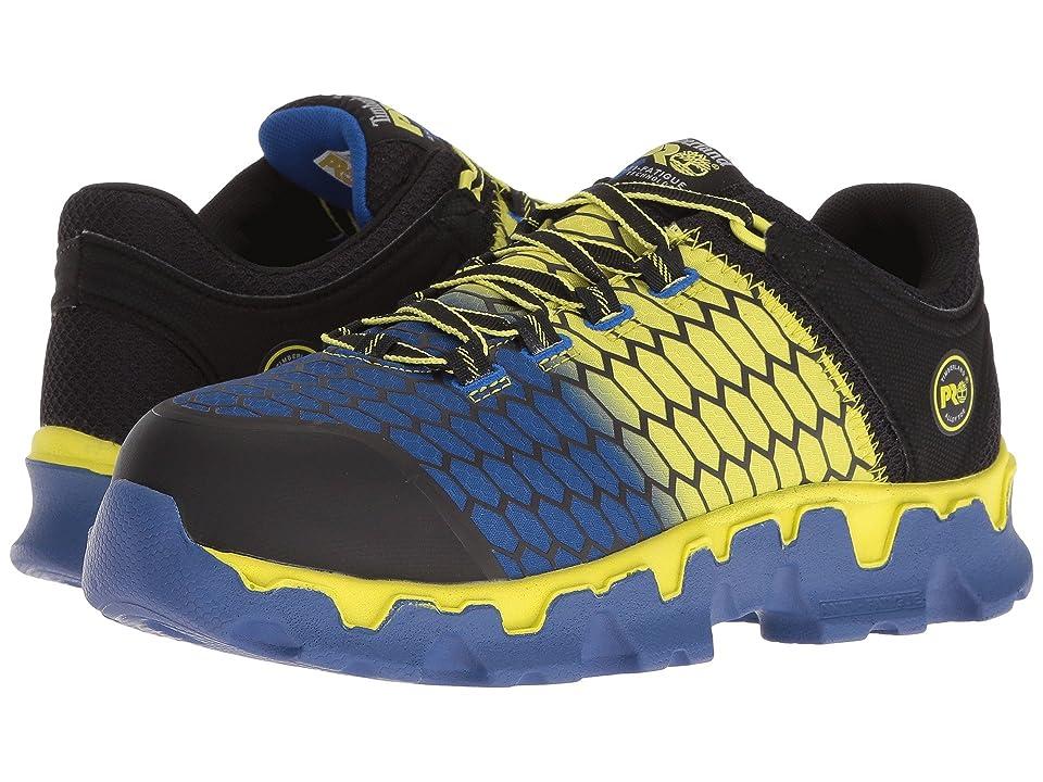 Timberland PRO Powertrain Alloy Toe SD+ (Black Synthetic/Yellow/Blue) Men