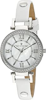 Women's CV8130 Petite Analog Display Swiss Quartz White Watch