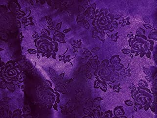 Brocade Jacquard Satin Purple 60 Inch Fabric By the Yard from The Fabric Exchange ®