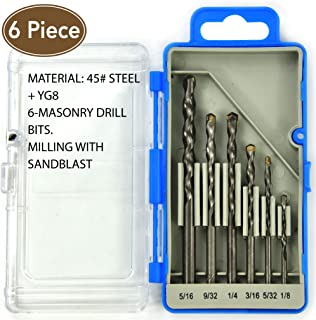 Super Value 6PCS, drill bit set, MASONRY Drills Set,drill and drive accessory set,drill bits,drill set,drilling driving kit,tools,tool kit,home repair tools,home tool kit