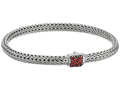 John Hardy Classic Chain 5mm Bracelet with Red Saphhire
