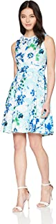 Calvin Klein Women's Petite Floral Sleeveless Fit and Flare Dress