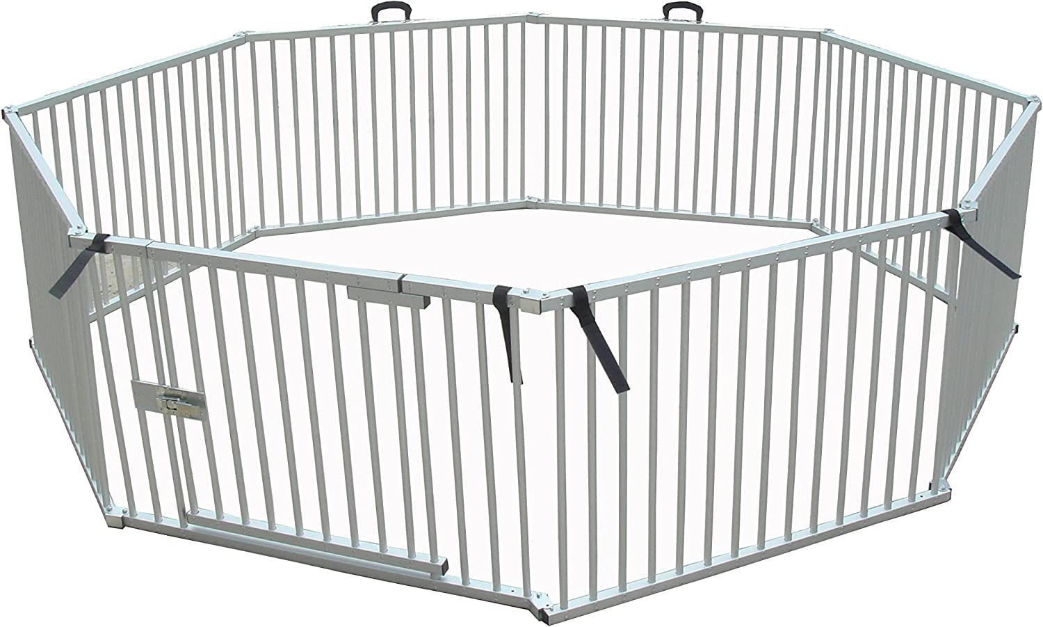 Cool Runners Pro Series Secure Aluminum Portable Expandable Exercise Enclosure 8 Sections (25 H x 36 L Per Section)