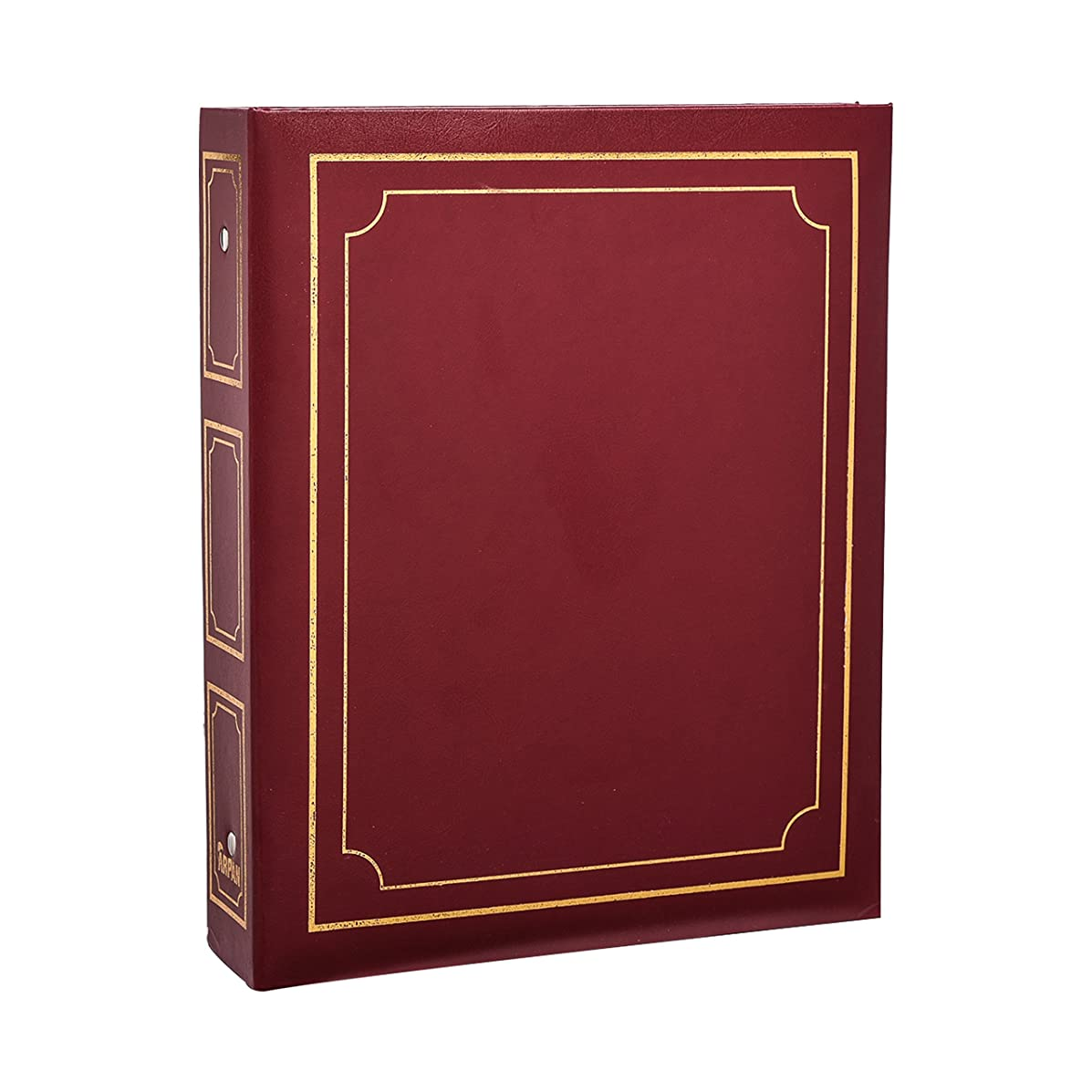Arpan Deluxe Large Self Adhesive Ring Binder Magnetic Page Photo Album 40 Sheets/80 Sides (Red/Burgundy)