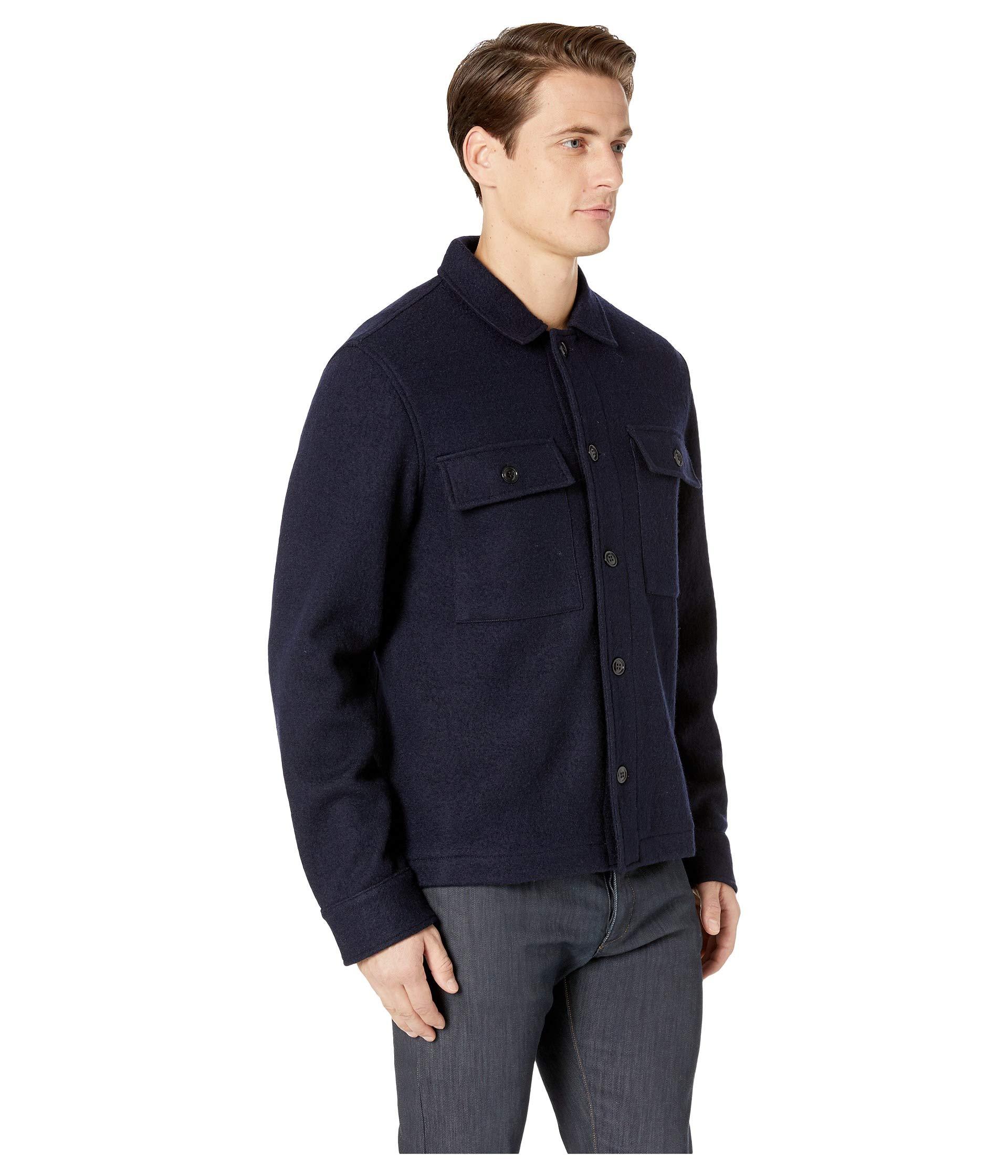 Todd Snyder Boucle Shirt Jacket Navy qqdr0gwx