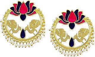 Zaveri Pearls Chand Bali Earrings for Women (Golden) (ZPFK6697)