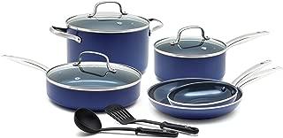 Blue Diamond CC001602-001 Toxin Free Ceramic Nonstick Cookware Set, 10pc