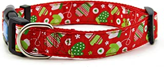 BIG SMILE PAW Nylon Dog Collar Adjustable,Christmas/Winter Theme