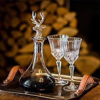 Culinary Concepts Decantador con tapón de cabeza de ciervo – Decantador de vino con tapón, decantador de whisky con tapón, jarra de whisky