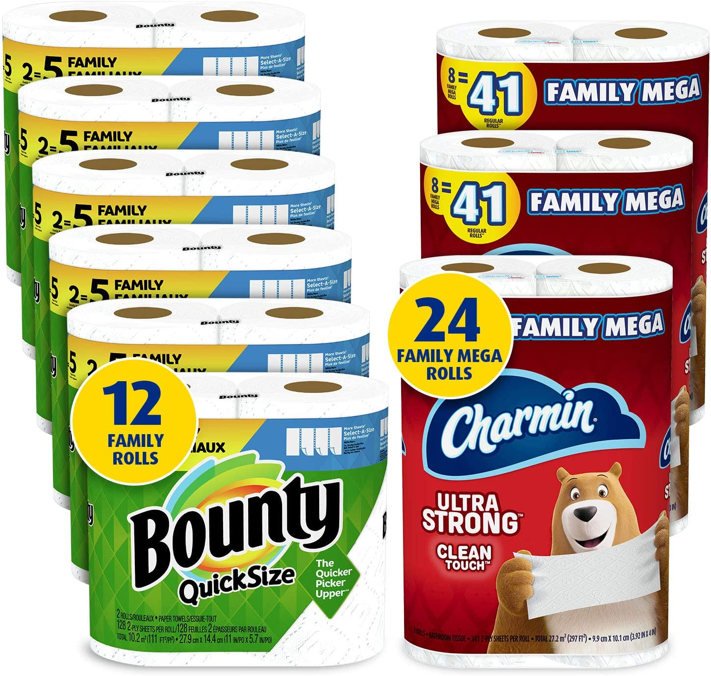 Charmin Ultra Tucson Mall Strong Clean OFFicial store Touch Toilet Paper Ro 24 Family Mega