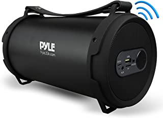 Pyle Portable Bluetooth Boombox Stereo System, Built-in Rechargeable Battery, Aux Input Jack, MP3/USB/Micro SD/FM Radio wi...