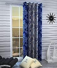 Fashion String 1 Piece Door Curtain Set, 7 feet Long,Blue