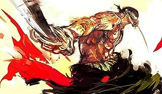 One Piece Roronoa Zoro PLAYMAT CUSTOM PLAY MAT ANIME PLAYMAT #178 by MT