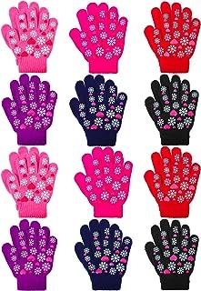 Coouby 12 جفت بچه ها گرم دستکش سحر و جادو نوجوانان زمستان کشش چرمی دستکش پسران دختران دستکش
