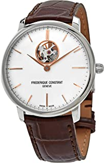 Frederique Constant Slimline Silver Dial Stainless Steel Ladies Watch FC312V4S6