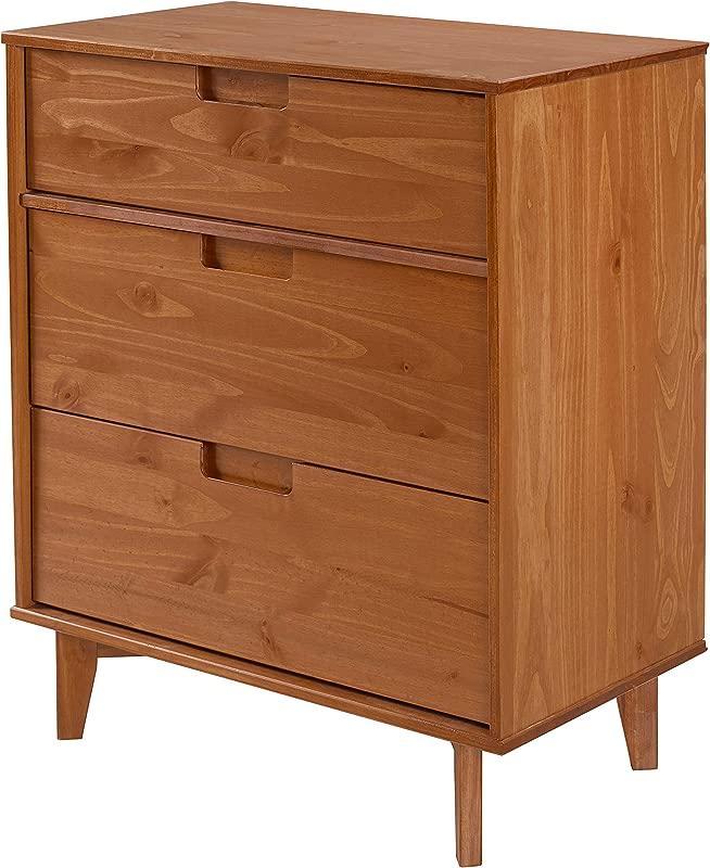 WE Furniture AZR3DSLDRCA Dresser Caramel