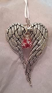 October Birthstone Angel Wings Memorial Ornament