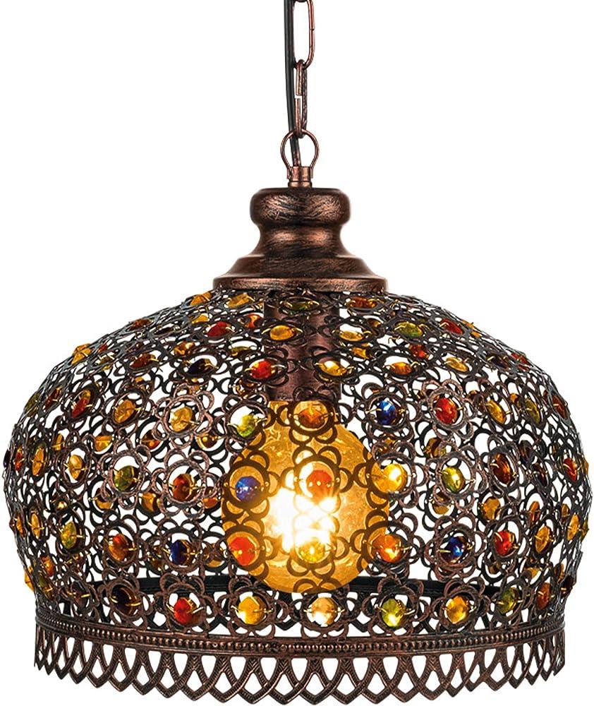 Eglo jadida ,  lampada a sospensione multicolore , in metallo, acciaio, vetro 31311 49764