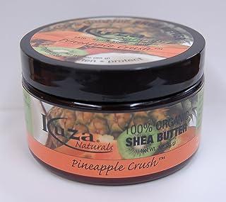 Kuza 100% Organic Shea Butter Skin, Hair, Scalp, Nails (Pineapple Crush) 3oz