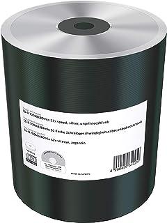 CD-R 700 Mb/s 80 Min 52x Speed, Silver, Unprinted/Blank, Shrink 100