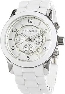 Men's MK8108 Runaway Stainless Steel White Watch